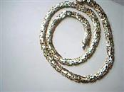 "18.5"" Gold Byzantine Chain 14K Yellow Gold 23.3g"
